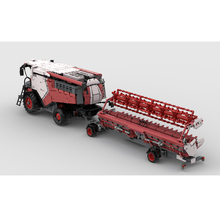 NEW 2021 Small particle technology building block moc-8900 cross country harvester remote assembly toy model boy's birthday gift