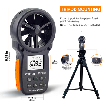 BTMETER HVAC Anemometer CFM Meter Handheld Digital Wind Speed Meter Gauge Test Measure Air Flow Humidity With Backlight USB Data gm8902 wind speed meter air flow tester air temperature meter portable handheld anemometer with usb interface hot selling