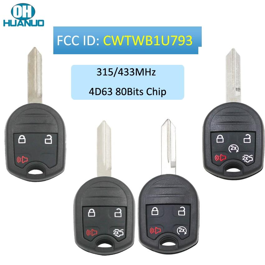 3/4/5 кнопочный дистанционный ключ для Ford F150 250 350 2004-2010 315 МГц с чипом 4D63 80bit CWTWB1U793 1788A-FWB1U793