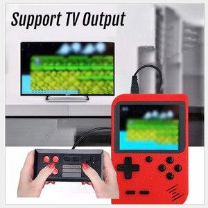 Image 4 - 2020 новая игровая консоль в стиле ретро со встроенными 800 играми и поддержкой геймпада, портативная 8 битная портативная мини консоль для видеоигр, подарок для детей