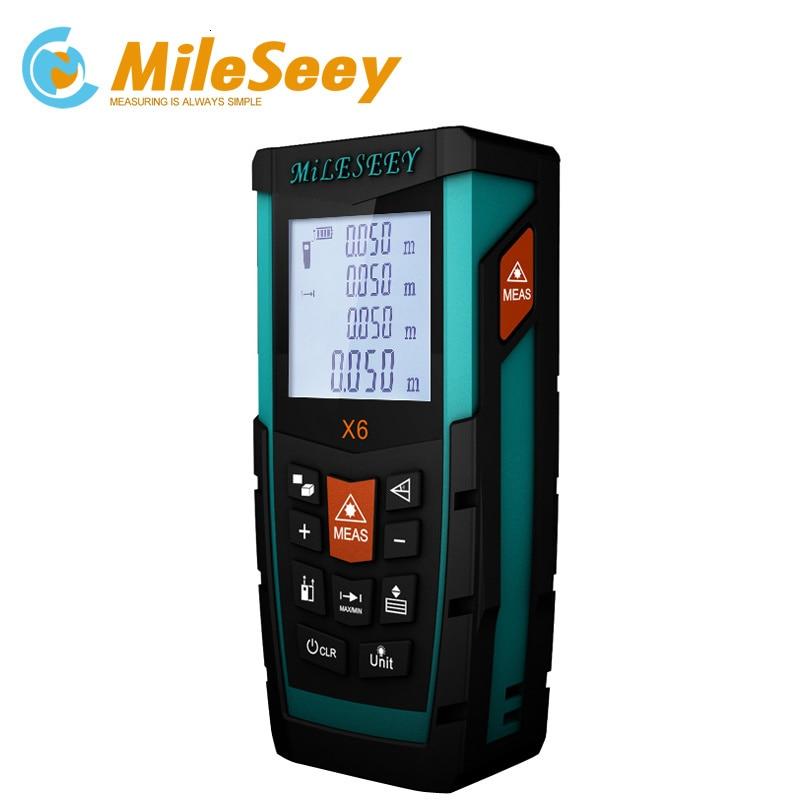 MILESEEY Waterdichte Laser Afstandsmeter Afstand Meten X6 100M Afstandsmeter Elektronische Meetinstrumenten - 5