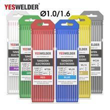 YESWELDER 10 шт./кор. электроды для сварки стержней 1,0/1,6/2,4/3,2/4,0 175 мм вольфрамовые электроды из лантана TIG пайки с давилкой для пюре