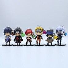 Wholesale 6 Naruto Garage Pendant Keychain 10CM Kakashi Sasuke Doll Toy Car Key Ring Gift