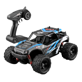 40+MPH Kids Model 2.4GHz High Speed 4WD RC Car Plastic Battery Powered Crawler 1:18 Easy Operation Off Road Remote Control Large