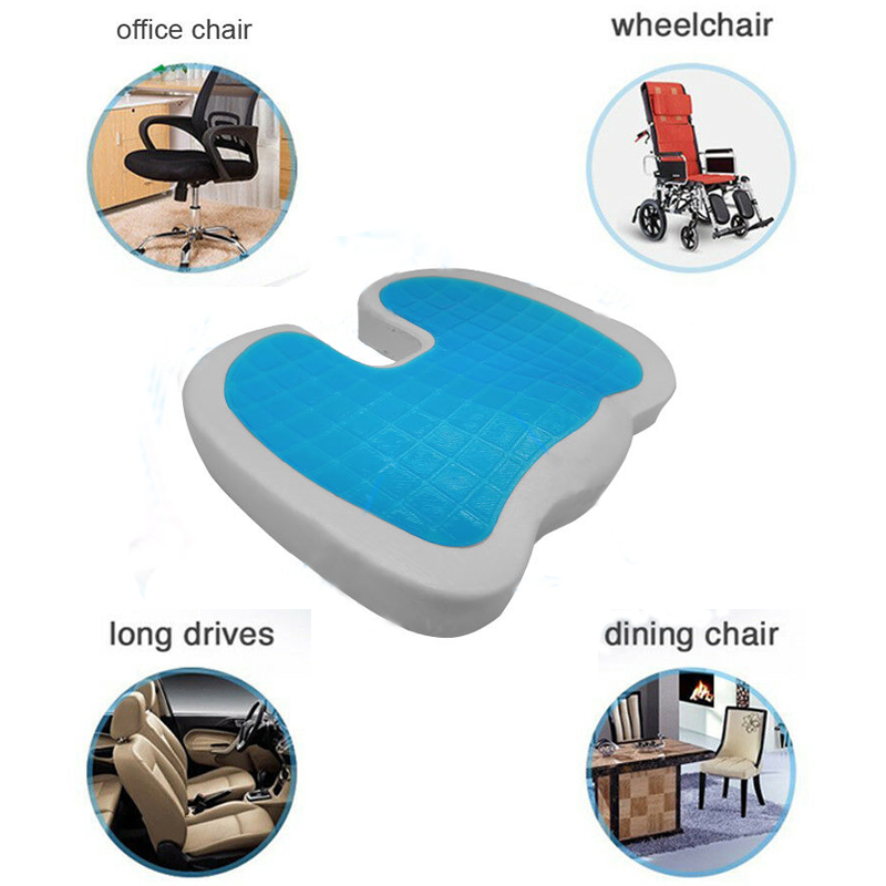 Orthopedic Memory Cotton Pillow Coccyx Protection U Seat Massage Chair Cushion Car Office Massage Cushion Travel Seat Cushion