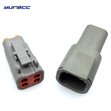 1Set 4Pin AWG Waterproof Connector With Pins Automotive Sealed Plug Series Female Male Electrical Auto Connector Automotive Plug цена и фото