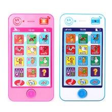 Детские Обучающие машинки для раннего обучения, игрушечный телефон с русским языком, звуками животных, Детский Электронный вокальный обучающий музыкальный телефон