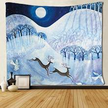 Elk White Dove in The Snow Tapestries Home Decorations(China)