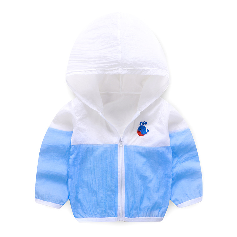 Summer Windbreaker for Boy Baby Jacket Kids UV Protection Clothes Hooded Children's Sun Clothing Girls Sea Beach Blouse Outwear-1