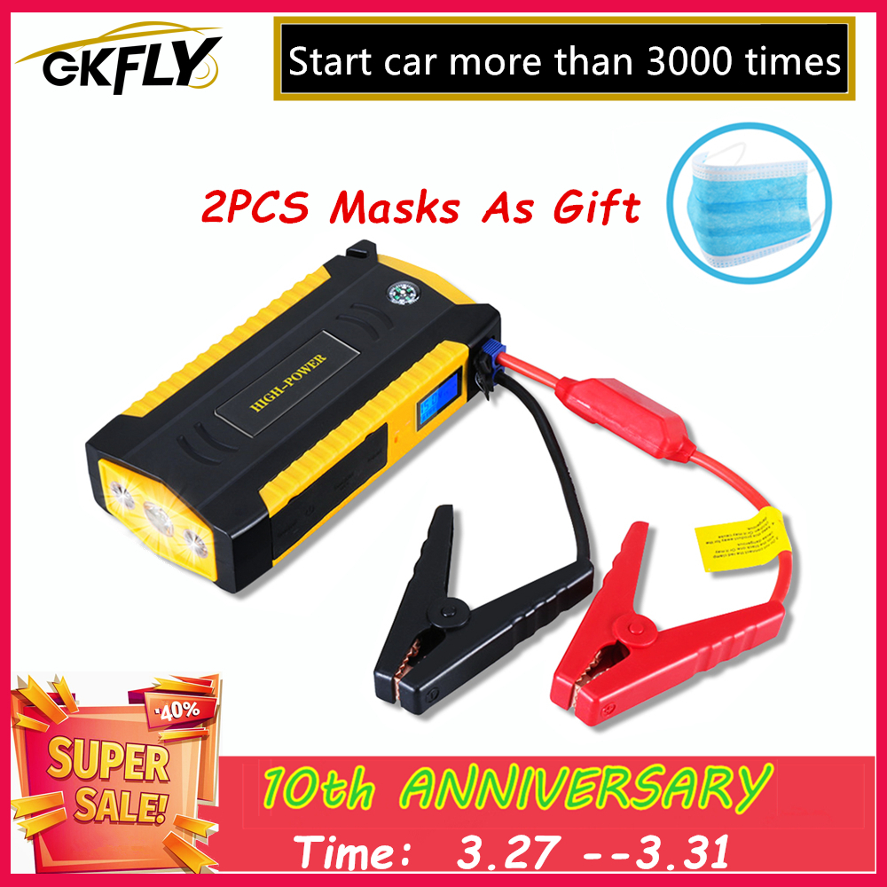 GKFLY High Capacity <font><b>Car</b></font> Jump Starter 600A Starting Device Portable Power Bank 12V Starter Cables Auto <font><b>Battery</b></font> Booster <font><b>Charger</b></font> image