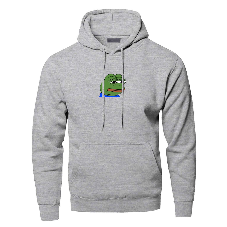 Sad Frog Funny Hoodies Sweatshirt Men Feels Bad Man Hooded Sweatshirts Angry Pepe Feels Good Man Streetwear Frog Pepe Sportswear