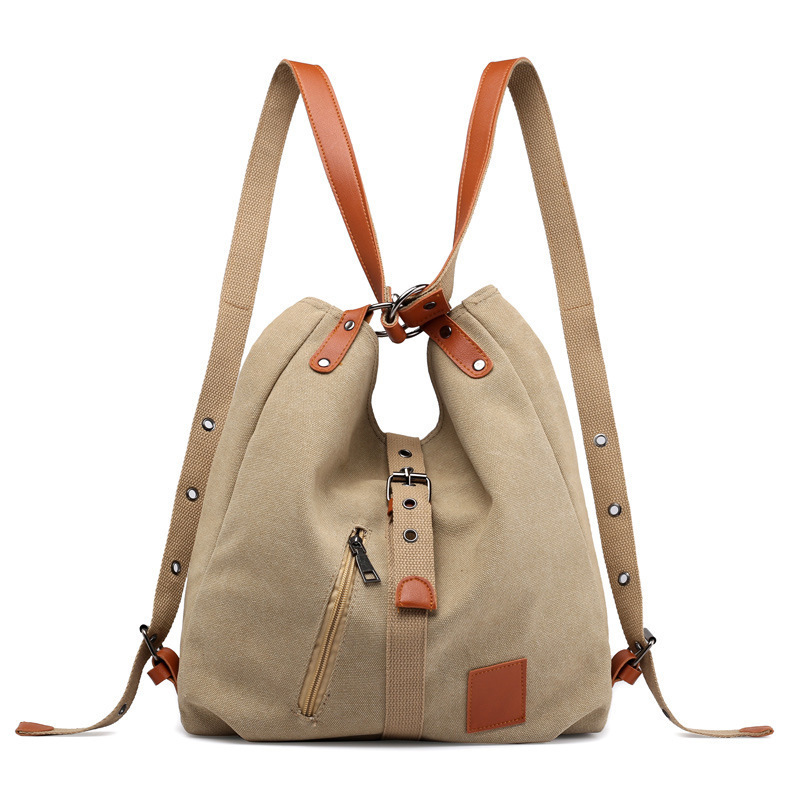 New Canvas Shoulder Bag Ladies Crossbody Bags Reusable Back Bags Multifunction Fashion Travel Bag Large Capacity