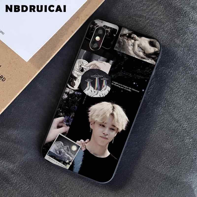 NBDRUICAI KPOP Jin SUGA j-מקווה RM Jimin V JungKook טלפון מקרה עבור iPhone X XS מקסימום 6 6s 7 7 בתוספת 8 8 בתוספת 5 5S SE XR 10