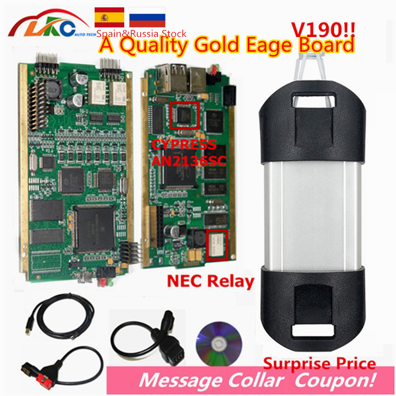 2019 Can Clip With CYPRESS AN2135SC/2136SC Full Chip V190 Gold PCB Board Auto A+ OBD2 Diagnostic Interface