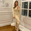 Hot Sexy Women Dresses Ladies Sheath V-neck Solid Hollow-outed Empire Skinny Clothing Female Slim Full Sleeve Plus Size Srping
