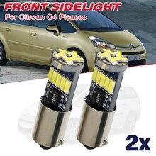 2X для CITROEN C4 GRAND PICASSO H6W BAX9S лицевая сторона светильник SMD светодиодный парковка светильник фары лампы ксенон белый