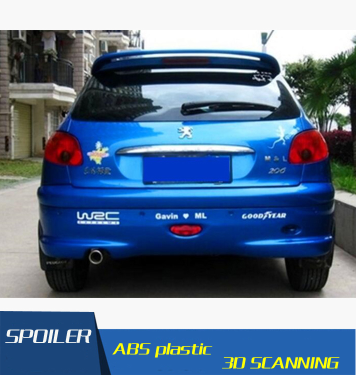 For Peugeot 206 Spoiler High Quality ABS Material Car Rear Wing Primer Color Rear Spoiler For Peugeot 206 207 Spoiler|Spoilers & Wings|Automobiles & Motorcycles - title=