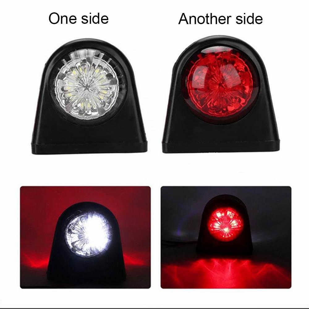 10-30V Plastic Car Truck LED Side Marker Light Rubber Double Side Indicator Lamps Red White For Trailer Lorry Van