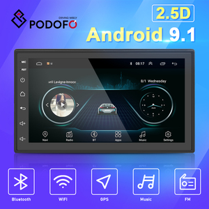 "Podofo 2 Din Android 8.1 Car Multimedia Video Player 2din 7"" Universal Radio GPS Stereo For Volkswagen Nissan Hyundai Kia toyota(China)"