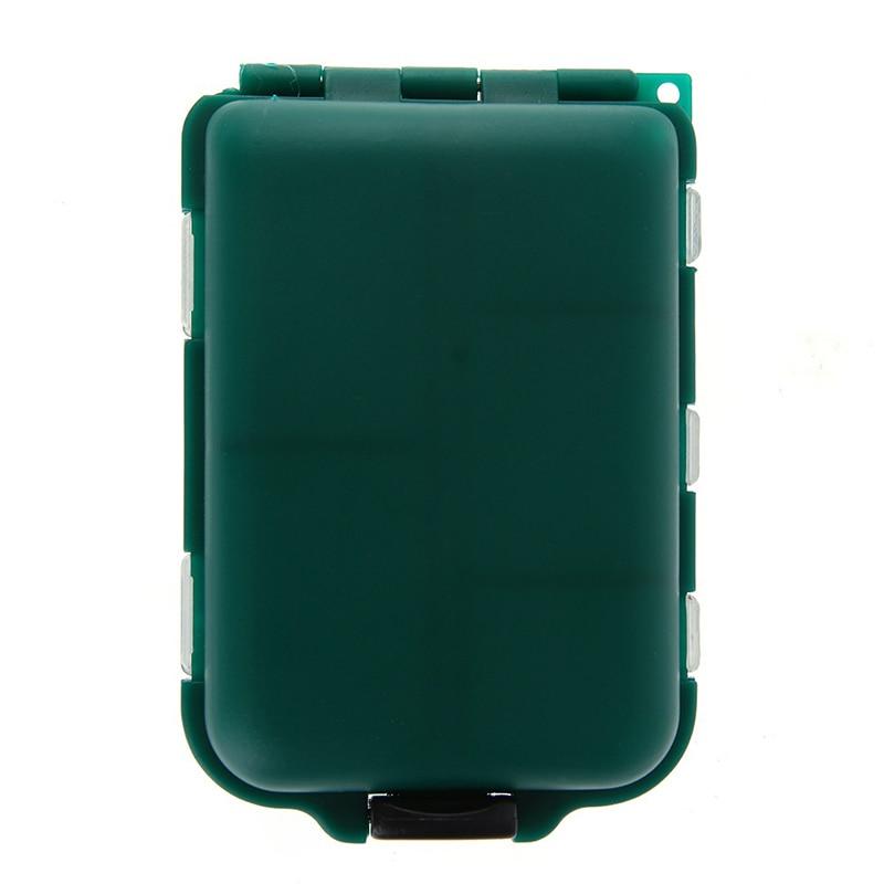 Mini boîte de rangement à 10 compartiments, boîte à matériel de pêche volante, cuillère de pêche, crochet, appât, boîte de rangement, accessoires de pêche 4