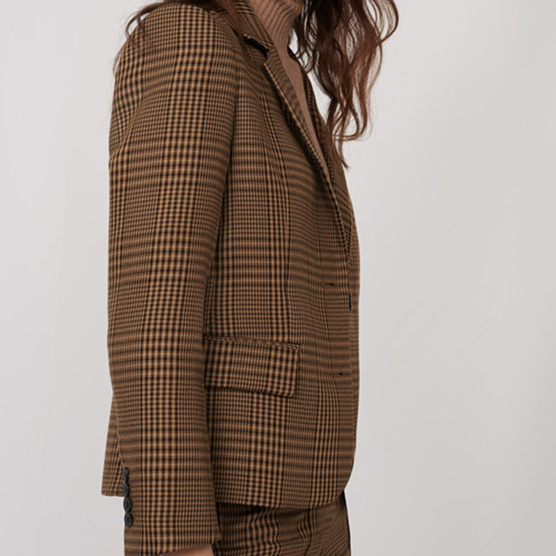 2020 autumn and winter new British style two button plaid short suit