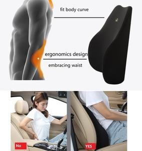 Image 5 - Car Lumbar Support Cushion Car Cushion Memory Foam Polyester Backrest Pad Orthopedic Cushion Relieve Pain soft comfort