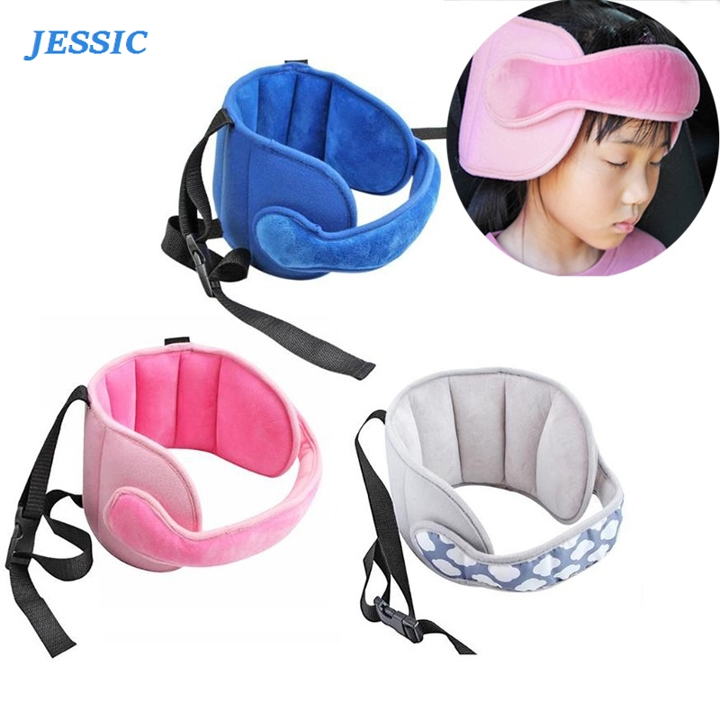 JESSIC Baby Head Fixed Sleeping Pillow Adjustable Kids Seat Head Supports Neck Safety Protection Pad Headrest Children Travel