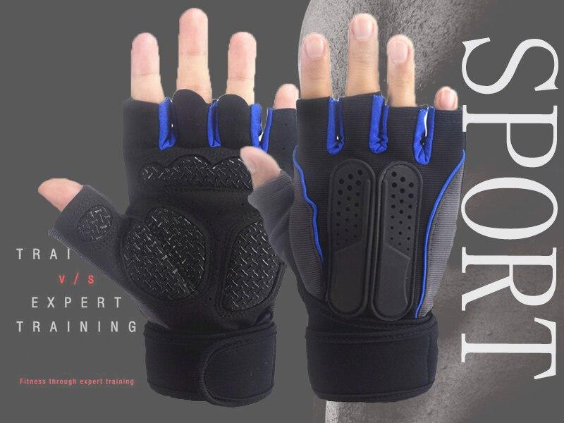Sports Gym Gloves Half Finger Breathable Weight Lifting Fitness Gloves Dumbbell Men Women Fingerless Exercise Work Gym Gloves