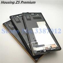Carcasa para Sony Xperia Z5 Premium Z5P E6853 E6833 E6883, bisel, Marco medio, piezas de repuesto