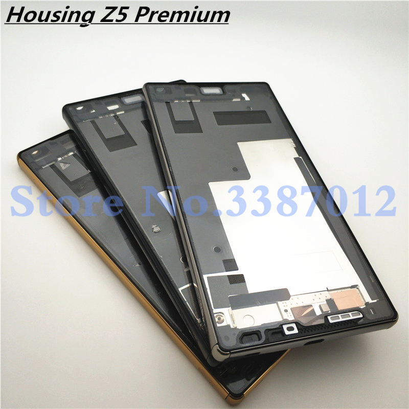 New Original For <font><b>Sony</b></font> <font><b>Xperia</b></font> <font><b>Z5</b></font> Premium Z5P <font><b>E6853</b></font> E6833 E6883 Bezel Middle Frame Housing Cover Replacement Parts image