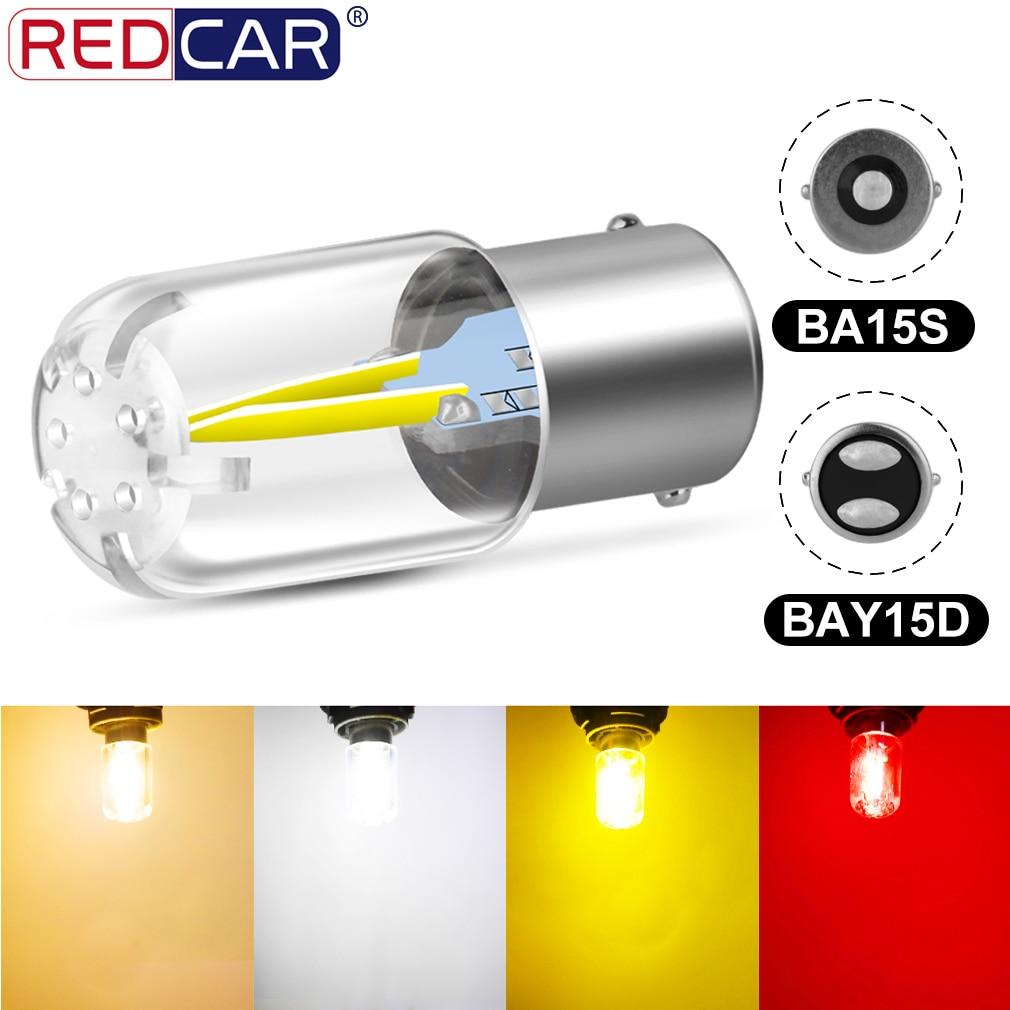 1pcs 1156 BA15S P21W Led Bulbs 1157 BAY15D P21/5W Led Red Amber White R5W R10W Car Turn Signal Light Reversing Light Stop Brake