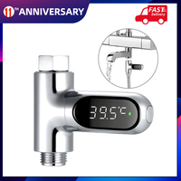 360 ° de rotación Digital LED ducha Pantalla de temperatura baño agua de baño del bebé termómetro centígrado/Fahrenheit pantalla