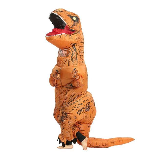 T REX Inflatable Dinosaur Costume for Adult Kids Men Women Halloween Costume Dino Cosplay  Cartoon Anime Party