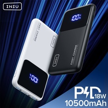 INIU 18W PD Power Bank 10500mAh Fast Charging Portable Charger Powerbank External Battery Pack For iPhone 12 Xiaomi Redmi Note 9
