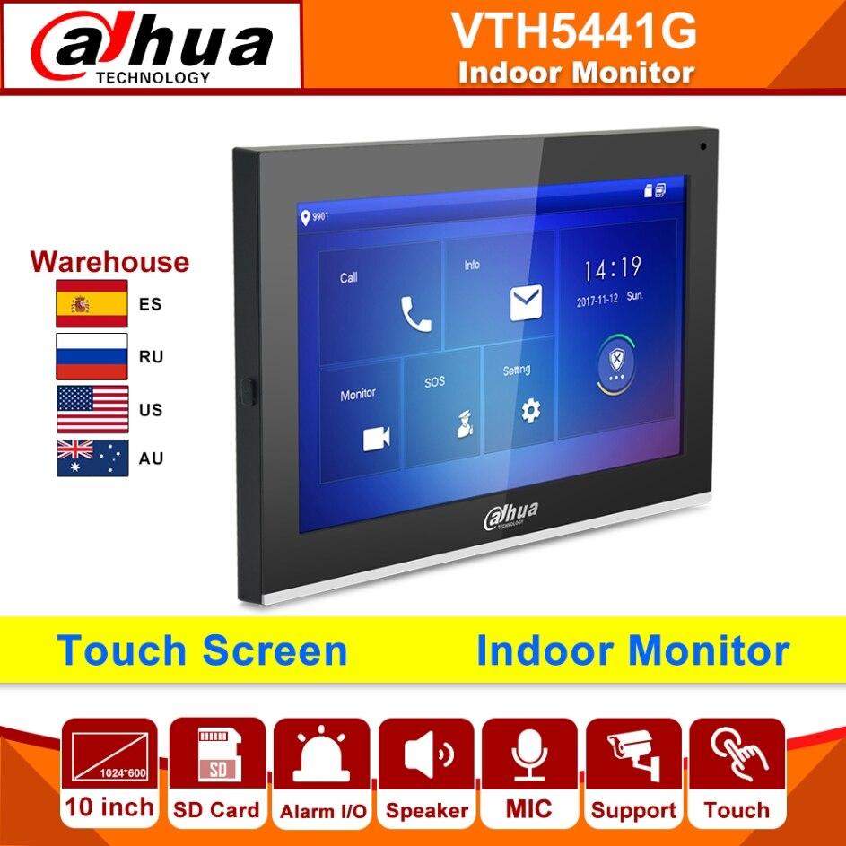 Dahua-Monitor de interior VTH5441G, pantalla táctil de 10 pulgadas a Color, funciona con alarma, intercomunicador IP, IPC, reemplazo de VTH1660CH