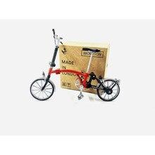 Modelo de bicicleta dobrável brompton figma colorido acabado montado modelo