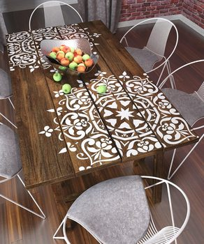 30 *30cm Size Diy Craft Mandala Mold For Painting Stencils Stamped Photo Album Embossed Paper Card On Wood, Fabric,wall Stencil