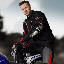 Motorcycle Jacket Pants Men Moto Riding Reflective Coat Trousers Set Summer Waterproof Winter Warm Protective Clothing JK-40
