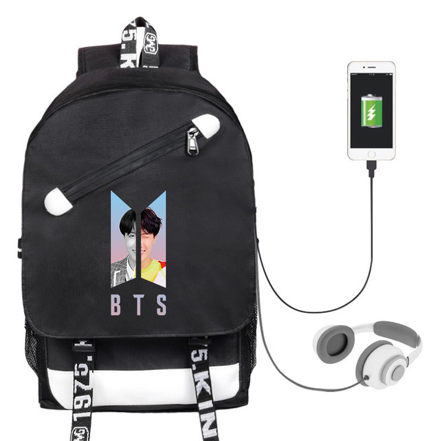 Mua Mens And Womens Student Backpack Celebrity Inspired Related Canvas School Bag USB Shackles Bag
