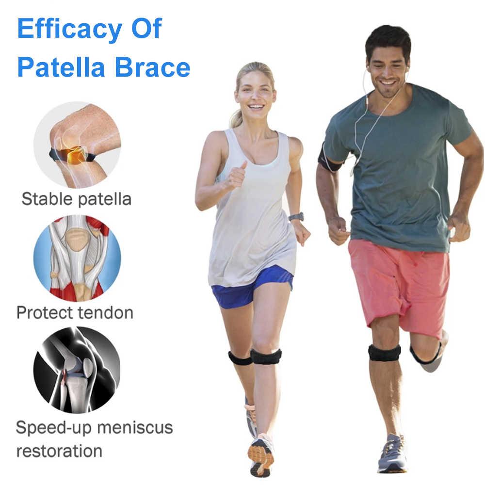 ปรับเข่า Pad เข่า Patella Stabilizer รั้งสนับสนุนสำหรับเดินป่าฟุตบอลบาสเกตบอลเทนนิสกีฬากลางแจ้ง