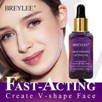 BREYLEE huiles essentielles rapide raffermissant Lifting visage Essence huile Massage Anti-rides Anti-âge puissant V forme soin de la peau du visage