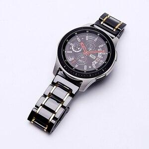 Image 1 - 20mm 22mm Bracelet de montre en céramique pour Samsung Galaxy montre 3 actif 2 Bracelet Gear S3 Bracelet frontière pour Amazfit GTS 2 GTR 2 Pop