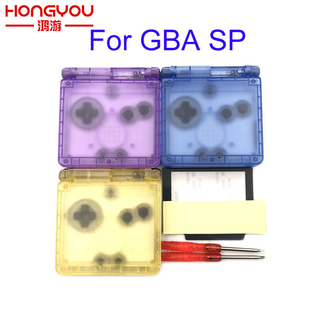 For GameBoy Advance SP Classic Transparent Replacement Housing Shell Screen Lens For GBA SP Housing Case Cover