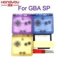 Pour GameBoy Advance SP classique Transparent boîtier de remplacement coque écran lentille pour GBA SP couvercle de boîtier