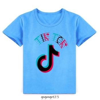 Tik Tok koszulka dziecięca dziecięca dla dziewczynki chłopcy dziewczęta dziecięca koszulka dziecięca dziecięca koszulka dziecięca koszulka imprezowa topy odzież krótka koszulka tanie i dobre opinie COTTON CN (pochodzenie) Na co dzień W stylu rysunkowym REGULAR Z okrągłym kołnierzykiem SHORT Pasuje na mniejsze stopy niezwykle Proszę sprawdzić informacje o rozmiarach ze sklepu