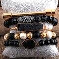 Богемные ювелирные изделия RH, браслет из бусин в стиле бохо, 5 шт., наборы браслетов из натурального камня и кристалла, подарок для женщин, Пря...