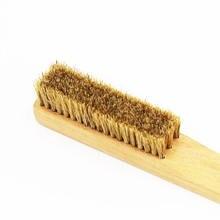 Щетка с прямой ручкой из Букового дерева и кабана щетка для