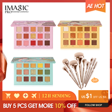 IMAGIC set combination 3pcs eye shadow palette to send 9 sets of brush girls cosmetics give gifts