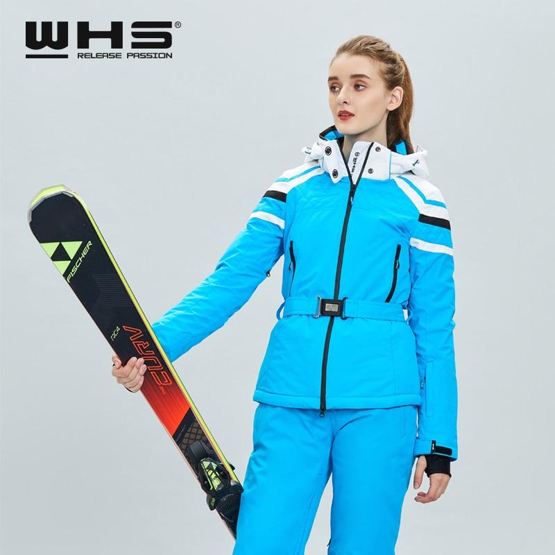 WHS  New Women Outdoor Ski Jackets Windproof Lady Warm Coat Womens Snow Jacket Hot Sale Ski Jacket Clothes Female Warm Jacket