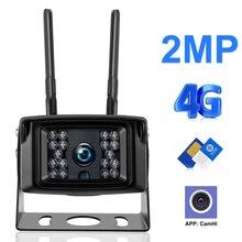 Kamera 3G 4G karta SIM 1080P HD bezprzewodowa zewnętrzna wodoodporna Mini CCTV bezpieczeństwo karta SD nagrywanie wideo kamera wsparcie P2P CAMHI